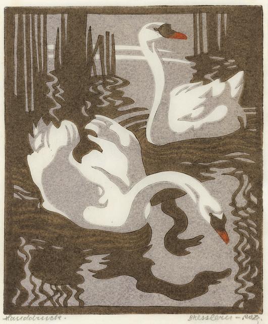 , 'Swans (Mute Swans),' 1931, Galerie Bei Der Albertina Zetter