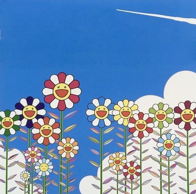 Takashi Murakami, 'Vapor Trail in the Blue Summer Sky', 2018, Print, Offset lithograph, Dope! Gallery