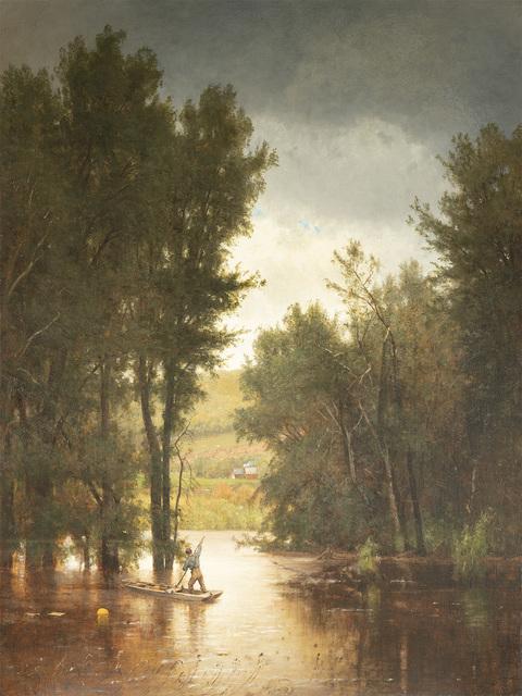 Worthington Whittredge, 'Flood on the Delaware', 1880, Questroyal Fine Art