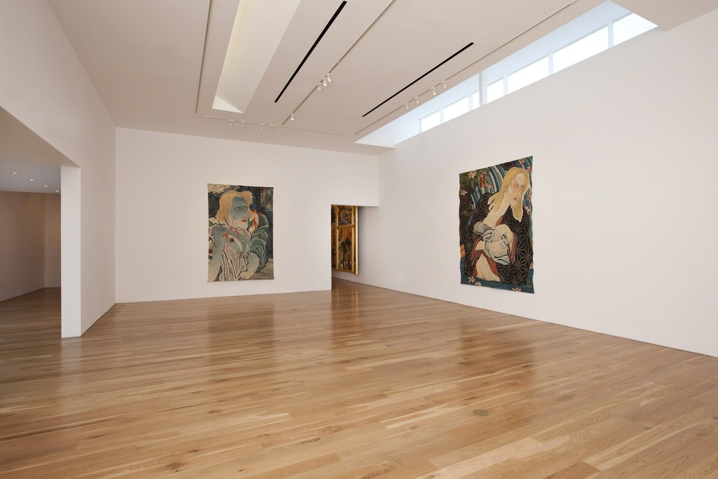 "Installation view of Masami Teraoka, ""The Cloisters Last Supper,"" 2012"