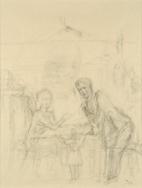 """, 'Etude pour """"la partie de cartes"""",' 1947, HDM Gallery"""