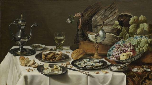 , 'Still Life with a Turkey Pie,' 1627, Rijksmuseum