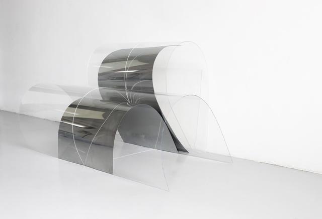 , 'Fold mirror, polished aluminum sheet, perspex,' 2018, Vernissage