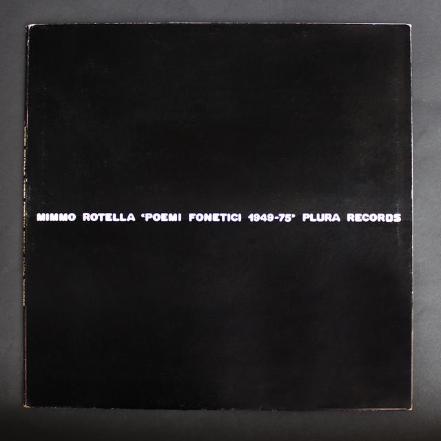 Mimmo Rotella, 'Poemi fonetici',  1949-75, Performance Art, Vinyl with case, Glenda Cinquegrana Art Consulting