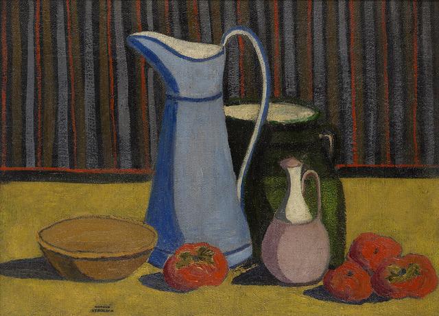 , 'Pichet bleu et kakis,' 1910, Waterhouse & Dodd
