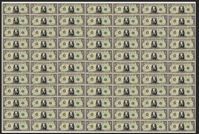 , 'Money Wallpaper,' 2014, The Untitled Space