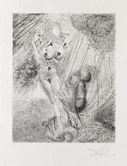 Salvador Dalí, 'Birth of Venus', 1963, Print, Drypoint and aquatint etching, Galerie d'Orsay