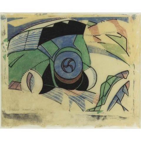 Claude Flight, 'Paris Omnibus', 1923, Print, Linocut, Osborne Samuel