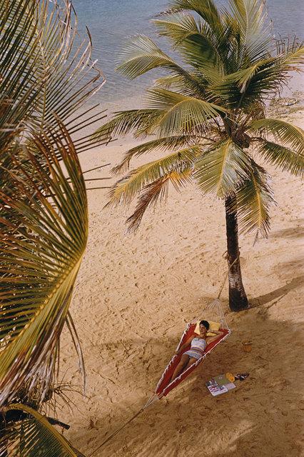 Slim Aarons, 'Caribe Hilton Beach, San Juan ', 1956, IFAC Arts
