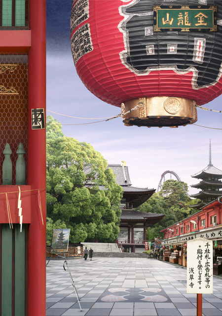 , 'Tokyo Story 8: Temple (after Hiroshige),' 2011, Karin Weber Gallery