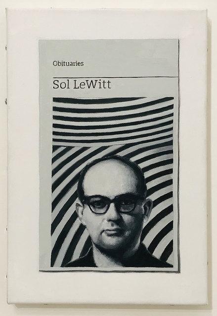 Hugh Mendes, 'Obituary: Sol LeWitt', 2018, Robert Fontaine Gallery