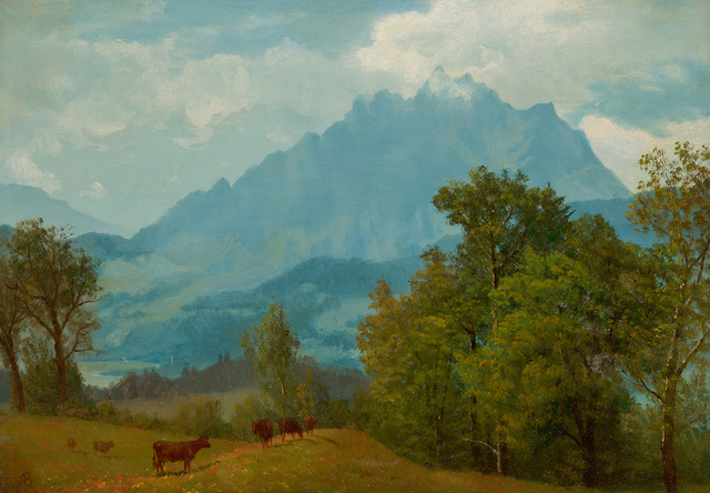 , 'Mount Pilatus above Lake Lucerne,' , Questroyal Fine Art