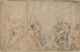 After Paolo Veronese, 'Christ among the Doctors', Drawing, Collage or other Work on Paper, Red and black chalks on laid paper, National Gallery of Art, Washington, D.C.