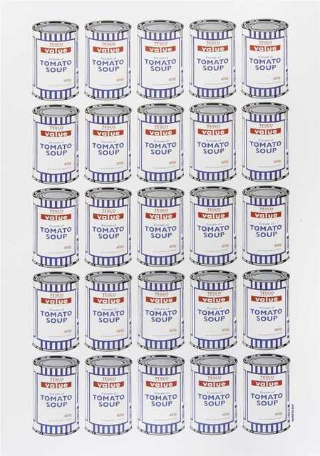 Banksy, 'Soup Cans Poster', 2010, Tate Ward Auctions