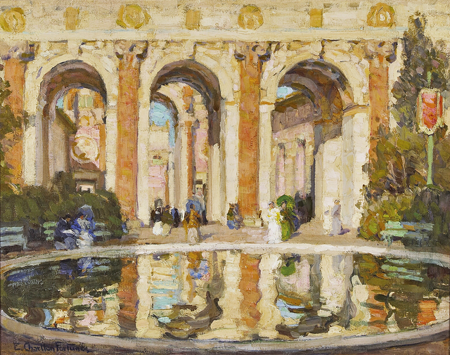 , 'The Pool (The Court of the Four Seasons),' 1915, de Young Museum