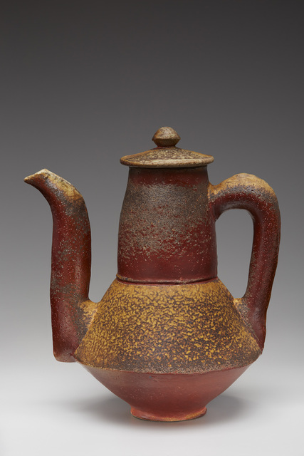 , 'Coffee pot, natural ash glaze with kaolin flashing slip,' , Pucker Gallery