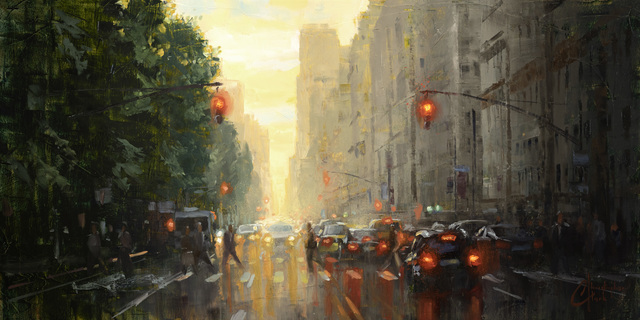 Christopher Clark, 'NYC – Along Central Park', 2020, Abend Gallery