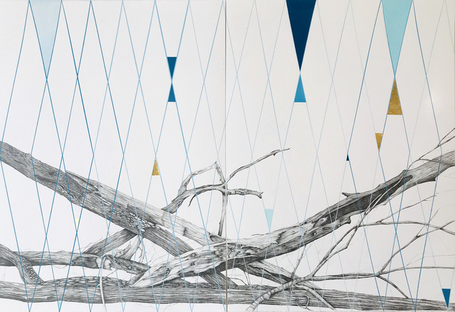 Kiki Gaffney, 'Variations', 2020, Drawing, Collage or other Work on Paper, Acrylic, graphite, gold leaf on paper, Pentimenti Gallery