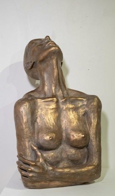 Kari Lena Flåten, 'Because I'm a girl', 2019, Sculpture, Bronze sculpture, GALLERI RAMFJORD