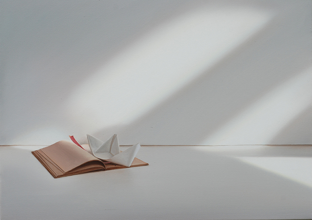 , 'Buch mit Papierschiffchen,' 2015, Galerie Friedmann-Hahn