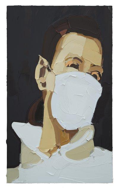 , 'Mask Girl,' 2014, Pékin Fine Arts