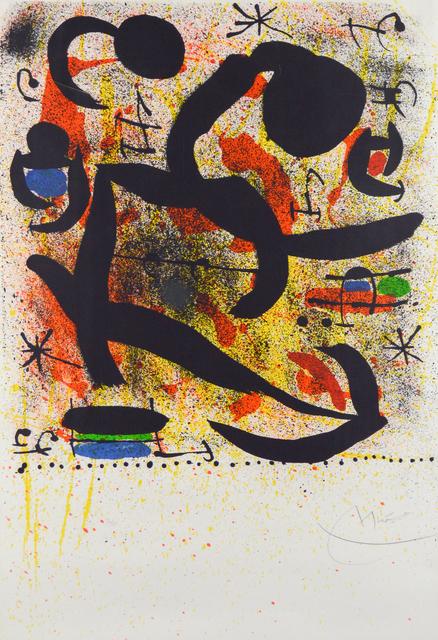 Joan Miró, 'Affiche Avant la Lettre pour Donaueschiger Musiktage - Variante II', 1969, Heather James Fine Art Gallery Auction
