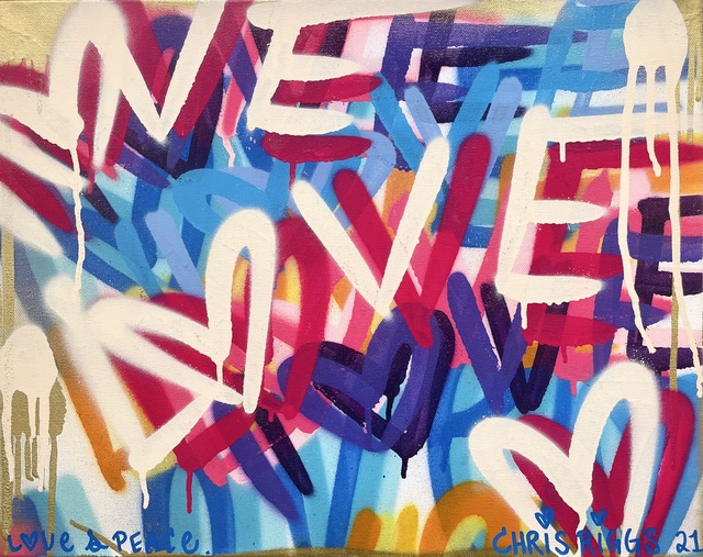 CHRIS RIGGS, 'Love in LA', 2021, Painting, Spray paint on canvas, Open Mind Art Space