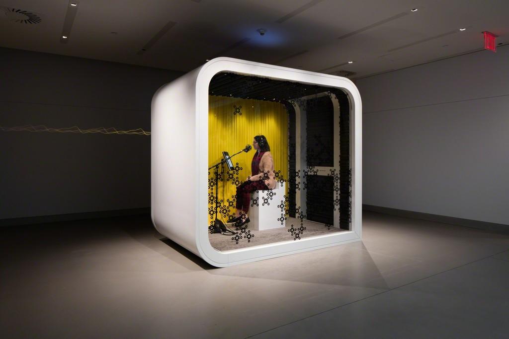 Installation shot of OM Lab. Image credits: Rubin Museum of Art