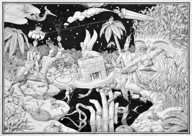 , 'Hunting for the Cryptstalkers,' 2014, Jonathan LeVine Projects