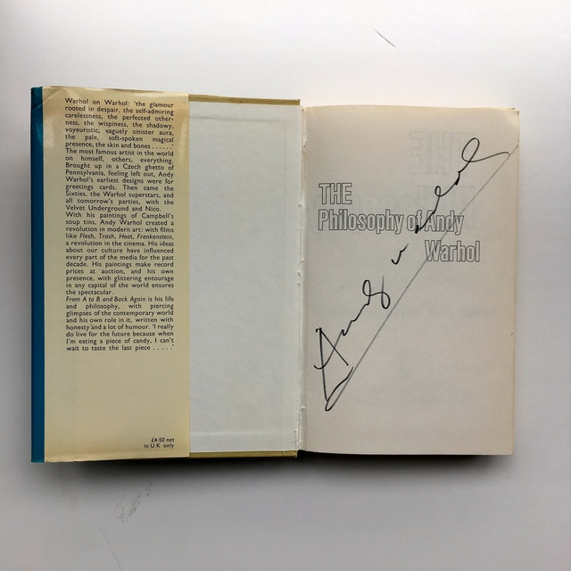 Andy Warhol, 'The philosophy of Andy Warhol (from A to B and back again)', 1975, Joseph K. Levene Fine Art, Ltd.