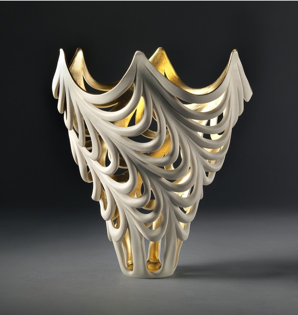Jennifer McCurdy, 'Gilded Wave Vessel', 2019, West Branch Gallery