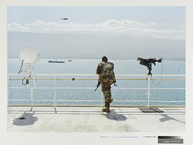 , 'Ship Security, US Naval Hospital Ship Comfort, Haiti,' 2010, Singapore Art Museum (SAM)
