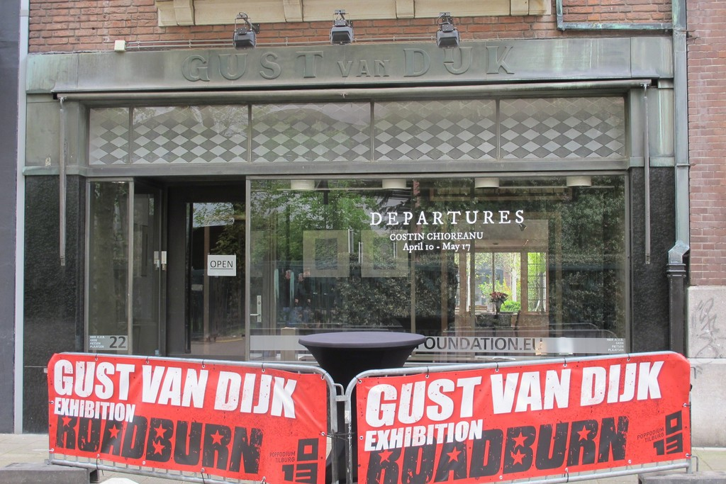 Entrance to the exhibition with Roadburn Festival fence.