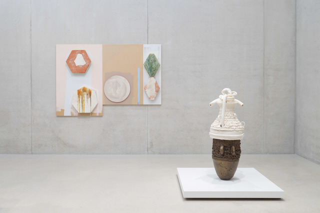 , 'From left to right: Panel #1 and #2, 2014; Earth Pot #6, 2014,' , Pérez Art Museum Miami (PAMM)