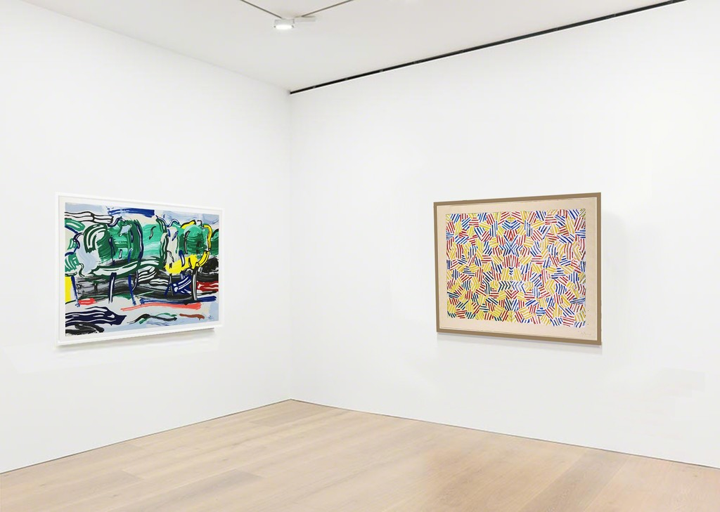 Roy Lichtenstein Road Before the Forest & Jasper Johns Corpse and Mirror at Joseph K. Levene Fine Art, Ltd.