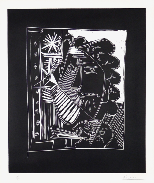 Pablo Picasso, 'Le Peintre A La Palette ', 1963, Print, Linocut on Arches paper., Off The Wall Gallery