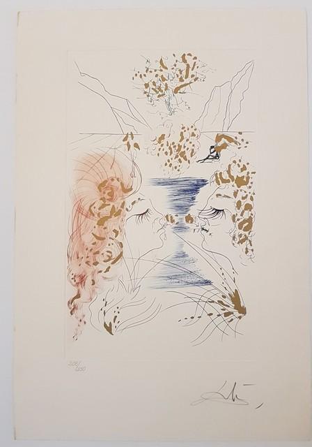 Salvador Dalí, 'The Kiss', 1971, Print, Etching, Cerbera Gallery