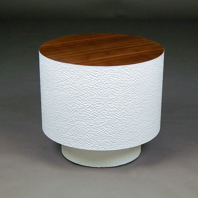 , 'Walnut Pedestal Drum Table,' 2015, Gallery NAGA