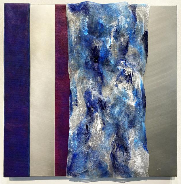 Joan Konkel, 'PERKIN'S DELIGHT', ca. 2020, Painting, Acrylic, finely woven mesh on canvas, Judy Ferrara Gallery