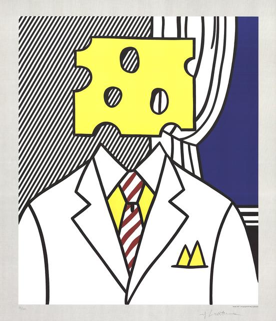 Roy Lichtenstein, 'Jobs Not Cheese! Moffett for Senator', 1982, Posters, Offset Lithograph, ArtWise