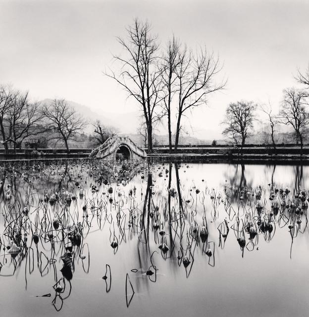, 'Michael Kenna, Lake Bridge, Hongkun, Anhui, China.,' 2008, Blue Lotus Gallery