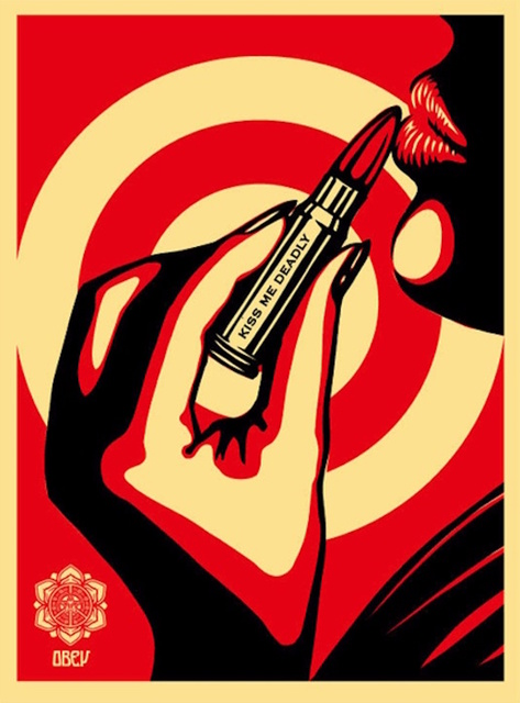Shepard Fairey (OBEY), 'Kiss Me Deadly Red', 2008, Gregg Shienbaum Fine Art