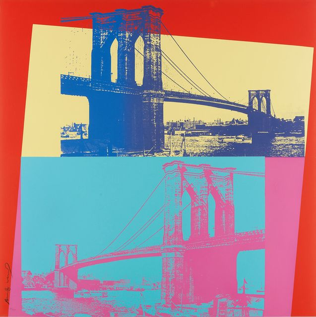Andy Warhol, 'Brooklyn Bridge', 1983, Print, Screenprint on Lenox Museum Board, Zeit Contemporary Art