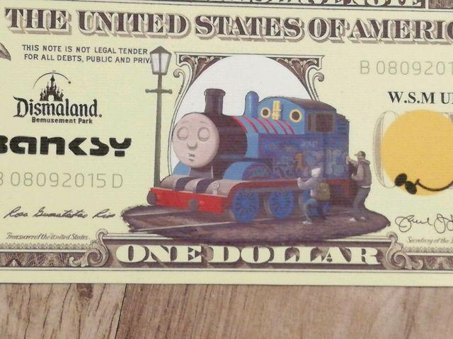 Banksy, 'BANKSY DISMALAND US DOLLAR THOMAS THE TANK ENGINE, DISMAL DOLLAR, COMPLETE WITH COA , LTD EDT', 2015, Arts Limited