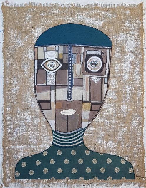 , 'Burlap Portrait B,' 2017, Bryant Toth Fine Art