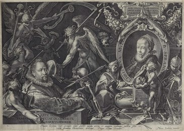 Portrait of Bartholomeus Spranger with an Allegory on the Death of His Wife, Christina Müller