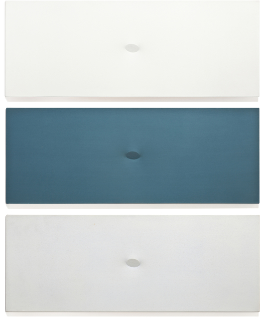 Turi Simeti, 'Trittico bianco-blu-azzuro', 1980, Painting, Acrylic on shaped canvas, in 3 parts, Phillips