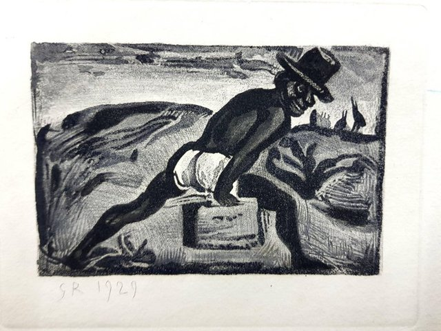"""Georges Rouault, 'Original Etching """"Ubu the King II"""" by Georges Rouault', 1955, Galerie Philia"""