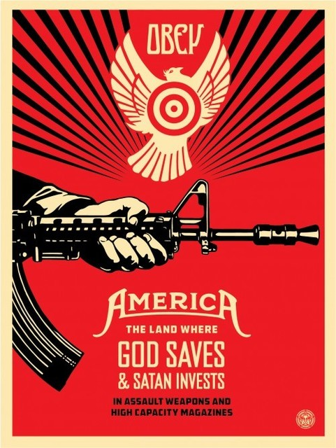 Shepard Fairey, 'God Saves and Satan Invests', 2013, Art276
