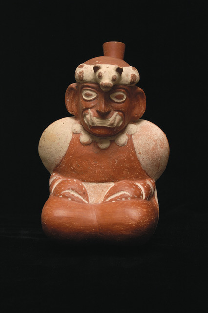 , 'Stirrup spout bottle of Supernatural Crab Being,' 200 CE-800 CE, Blanton Museum of Art